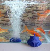 Wholesale Shell Shape Air Stone Bubble Aquarium Fish Tank Hydroponics Aerator Diffuser Fish Tank Bubble Pump