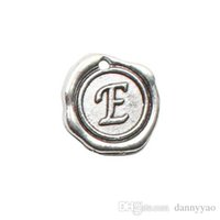 Wholesale Antique Silver Plating Letter Charms Vintage Initial E Message Charms AAC177 E