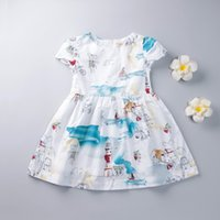 american printing house - New Baby small animal printing dresses Girls house Cartoon short sleeve Dress princess dresse