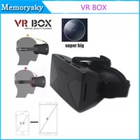 Wholesale 3D VR BOX Virtual Reality Headset D VR Glasses with Adjustable Head Strap for D Movies and Games high quality