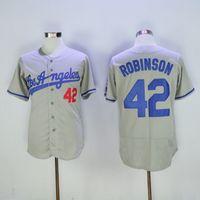 Football baseball jereys - Brooklyn Dodger Jackie Robinson Grey Baseball Jerseys Champions Sports Jereys Men s Baseball Wears Vintage Baseball Athletic Apparel
