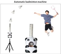 Wholesale Automatic badminton robbot Serving Machine automatic badminton shooting machine automatic shuttlecock ball by hosalei