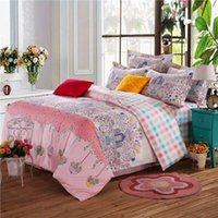 bedding set suppliers - The whole process of reactive printing sheets quilt cover pillowcase medium size bed hotel Home Furnishing bedding supplier