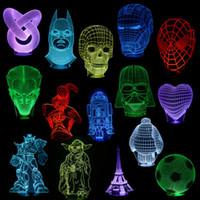 Wholesale 3D illusion bulbing Night color change Touch switch table desk lamp LED light LEG_308