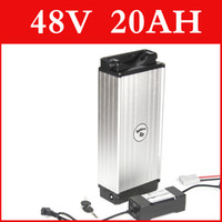 Wholesale 48V AH lithium battery Aluminum housing rear rack V W lithium ion battery charger BMS electric bike pack Free customs duty