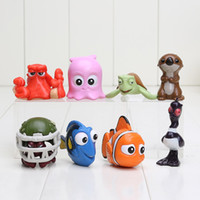 Wholesale 8pcs set Movie Finding Nemo Clownfish Dory PVC Action Figure Toy Collection Model toy for kids toy retail