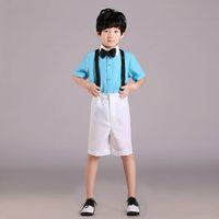 Wholesale Summer style boys attire shirt short boys wedding suit