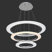 acrylic dining room table - LED Pendant Lights Modern Kitchen Acrylic Suspension Hanging Ceiling Lamp Dining Table Chandeliers Lighting for Home W FCC CE ROHS VALLKIN