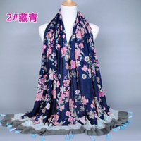artistic scarf - Japanese Ethnic Style Scarves and Shawls for Women Fashion Tassel Design Artistic Style Bandana and Pashmina for Ladies BS113