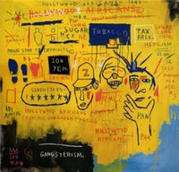 african abstract art - Jean Michel Basquiat Hollywood African High Quality genuine Hand Painted Wall Decor Art Oil Painting On Canvas