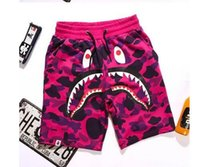Wholesale Men shorts camo cargo shark camouflage shorts outdoor sport trousers New fashion casual cotton beach board shorts