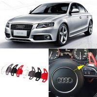 allroad wheels - 2pcs Brand New High Quality Alloy Add On Steering Wheel DSG Paddle Shifters Extension For Audi A4L