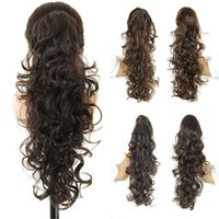 afro ponytail extension - Curly Ponytail Hairpieces quot Long Fake Ponytails Claw Drawstring Pony Tail Afro False Hair Extensions Pieces Color Horse Tress