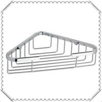 Wholesale Bathroom products corner shelf accessories stainless steel tripod single net basket rack shelves Promotion