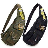Wholesale Luggage Bags Handbags Outdoor Casual Military tactical Sling bag Sport Travel Chest bag Shoulder bag Messengers bag for men Black Green