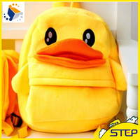 Wholesale New Duck Style Children Plush Backpacks Cute Gift Bags for Kids Factory Price ST023