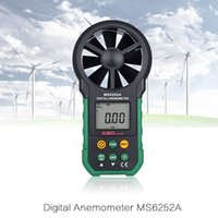 Wholesale AIMOmeter MS6252A LCD Digital Anemometer Automatic Intelligence Environmental Wind Speed Measurement Fast Display Good Quatily