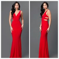 beaded leather jacket - Red Long Evening Dresses Sheer Spaghetti Strap Chiffon Mermaid Evening Gowns Floor Length Crystal Formal Women Special Occasion Dresses