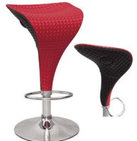 bar stools black leather - Casual Chair new fashion bar chair chairs swivel lift stool red and black crystal leather