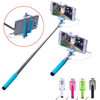 android camera button - Extendable z07 wire selfie stick Camera Handhed Monopod Stick Holder With shutter Button For iPhone Samsung Android cell phones
