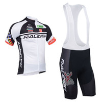 Wholesale raleigh team cycling jersey and bib short Men Summer Cycling Clothes Black And Red Top Class Lycra Cycling Kit