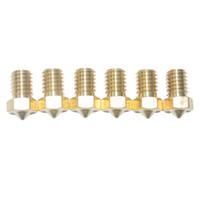 Wholesale 10 Pieces D Printer Parts E3D V5 V6 M6 threaded Extruder J Head Brass Nozzle Print Head for mm Filament