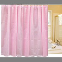 Wholesale Shower Curtain Striped Pattern Simple Shower Curtain Waterproof Polyester Fabric Bath Curtain with Hooks