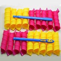 Wholesale 18PCS Set DIY Magic Hair Curlers Rollers With Hooks cm Length cm Diameter