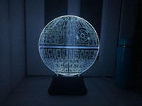 Cheap New 2016 The Force Awakens Death Star Change Color Table Lamp USB Light for Star Wars Fans 3D LED Night Light Colorful Gradient