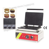 Wholesale Commercial Finger stuffed waffle machine stainless steel round stuffed waffle maker with waffle moulds