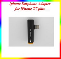 Wholesale 10pcs sell Iphone iphone plus Earphone Adapter Data Adapter Cords I7 i7 plus Adapter mm Female To Lighting Male Headset