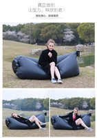 Wholesale 2016 Hot Fast Inflatable Laybag Lamzac Hangout Air Sofa Camping Sleeping Bag KAISR Beach Sofa Lounger Bed Lazy bags Chair With Side Pocket