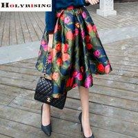 Wholesale 2016 Summer Spring Vintage Women Printed Skirts High Waist Floral Tutu Pleated Elegant Skirt For Lady Girls