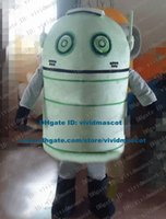 andriod robot - Nimble Green Android Andriod Adnroid Robot Automaton Mascot Costume Cartoon Character Mascotte Adult Black Hands ZZ1076 Free Sh