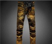 al por mayor los pantalones vaqueros de oro-2017 nuevo pantalones vaqueros punkyes de los pantalones vaqueros de los pantalones vaqueros de los pantalones vaqueros de los pantalones vaqueros de los pantalones vaqueros