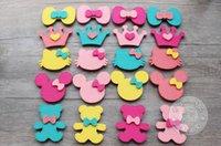 Wholesale New Arrive Cute Pink Hello Kitty Head Children Hair Clips Yellow Bear Children Hair Clips Hair Accessories