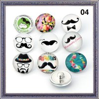 beard beads - Mixed Fashion mm Snap Buttons DIY snap button noosa chunks leather bracelet Hat glasses Beard pattern