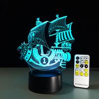 balls voyages - 2016 plain sailing Bon Voyage D Illusion Night Lamp D Optical Lamp AA Battery DC V IR Remote Dropshipping