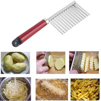 Wholesale Multifunctional Potato Wavy Edged Knife Stainless Steel Plastic Handle Kitchen Gadget Vegetable Fruit Cutting Peeler Kitchen Tools jy717