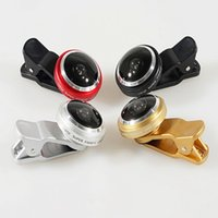 Wholesale Wide Angle Lens Degree Universal Mini Clip Clamp Fish eye Lens Phone Lens Telescope for Mobile Phones Camera iPhone Samsung