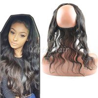 adjusting lace wigs - 2016 New Style A Grade Lace Frontal Closure X2 Back With Adjust Strap Brazilian Hair Body Wave Lace Band x2 In