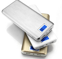 Wholesale HONG Real capacity mah portable Power bank with LCD display LED battery powerbank For iphone phones charger