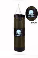 Wholesale Genuine ZOOBOO Army Green Empty Kick Boxing Bag cm Training Fitness Punching Bag Pancada Boxeo Hook Hanging MMA Fight Sandbag