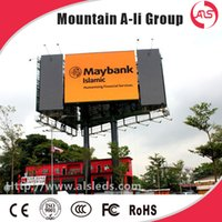 Wholesale Shenzhen Mountain A Li outdoor full color P10 LED display screen advertising billboard led display sign LED video wall