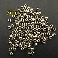 Wholesale 5mm CCB beads for scarf charm pendant for scarf CCB marerial in necklaces imitation gold and silver for DIY jewelry big hole beads