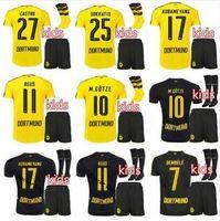 b jerseys - Top Thai Dortmund the KIDS KIT sock jerseys shirt REUS AUBAMEYANG MKHITARYAN WEIGL PULISIC adult Football Shirts Maillot b
