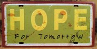 art hospitals - Vintage Tin Sign HOPE FOR TOMORROW Hospital Pub Club Home Wall Retro Embossed Metal Art Poster High Quality x30cm