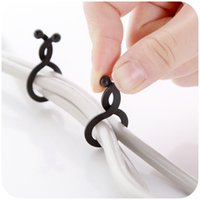 Wholesale 20pcs bag cable organizer desktop computer line finishing line Fixer wire container consolidation cable winder holder