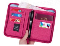 Wholesale New Arrival Travel Credit Card Holder Passport Cover Organizer Wallet ID Business Card Pocket Multifunctional Wallet Zipper Phone Pocket
