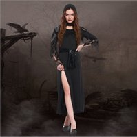 adults movies lot - New Arrival Adult Black Witch Costumes By DHL Cosplay Halloween Plus Size Women Long Dress Club Night Ghost Play Clothing